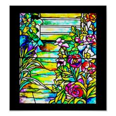 Poster-Stained Glass-Louis Tiffany 112