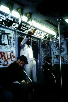 what a ride...this is what subway cars looked like in the '70s/'80s; if it was cleaned off, more appeared.