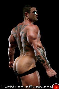 Asshole muscle men show
