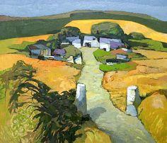 """John Elwyn (British, 1916-1997) """"Upland Farm, Cardiganshire II"""","""