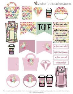 Free Planner & Purse Planner Stickers | Victoria Thatcher