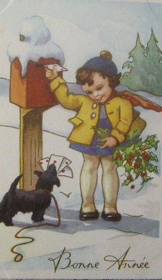 Vintage Christmas card ~ Italy