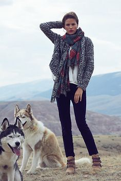 I want this entire outfit....and the huskies :)