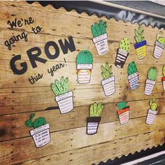 elementary classroom decor I noticed that cactus themed classroom decor is really hot right now and they make any classroom have that chic modern look. First Grade Classroom, New Classroom, Classroom Setup, Classroom Design, Kindergarten Classroom, Classroom Organization, Classroom Birthday Displays, Organization Ideas, Garden Theme Classroom