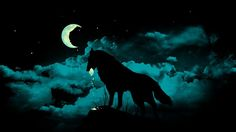 HD Widescreen Wallpapers - wolf and moon pic by Dalton Williams (2016-10-21)