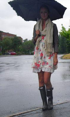 Kelly wearing her Wellingtons 1 - Rain