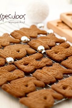 Speculoos - Santa's cookies My Baked Goods Santa Cookies, Gingerbread Cookies, Christmas Sweets, Christmas Baking, Speculoos Cookies, Sweets Cake, Baking And Pastry, Polish Recipes, Baked Goods