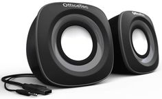 OfficeTec USB Computer Speakers Compact System for Mac Best Computer Speakers, Laptop Speakers, Desktop Speakers, Satellite Speakers, Stereo Speakers, Beats Headphones, Over Ear Headphones, Altec Lansing, Powered Speakers
