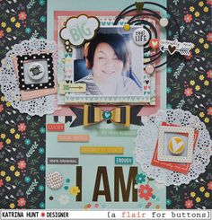 I Am-a flair for buttons and Simple Stories - Scrapbook.com