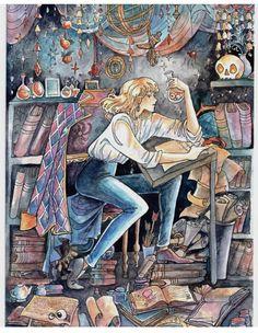 Studio Ghibli Art, Studio Ghibli Movies, Japanese Animated Movies, Howls Moving Castle, Hayao Miyazaki, Cool Drawings, Lovers Art, Art Inspo, Aesthetic Art