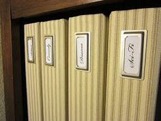 If you've got some extra time and you're feeling crafty, follow these instructions for making your genealogy binders look pretty and organized.