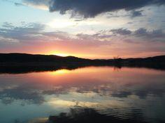 #Sunset; #sun; #lake; #mountains; #cloud :))