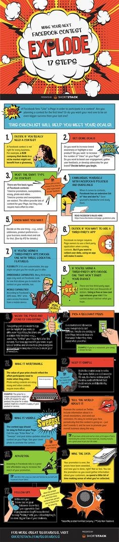 17 Steps for an Explosive Facebook Contest #facebook