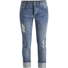 Simply Be Chelsea Boyfriend Jeans Reg ($58) ❤ liked on Polyvore featuring jeans, bottoms, pants, jeans/pants, vintage blue, frayed jeans, boyfriend fit jeans, boyfriend jeans, vintage jeans and blue jeans