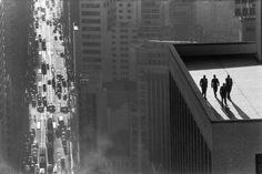 "René Burri. ""Men On A Rooftop"". 1960. São Paulo, Brazil."