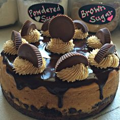 Peanut Butter Cup Brownie Cheesecake.  I can see making this on The Brown and Blond Bakery's Dark Chocolate Brownie Mix!