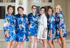Bridal and bridesmaid robes, navy.
