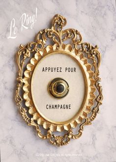 Press For Champagne  french edition  ringing by lisagolightly
