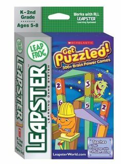 Leapfrog Leapster Educational Game - Get Puzzled 300+ Games - K to 2nd Grade | eBay