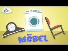 Haushaltsgegenstände, Haushaltsgeräte und Möbel lernen für Kinder und Kleinkinder (deutsch) - YouTube
