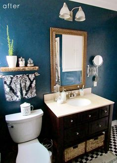 Design Sponge Bathrooms Makeover A Bright & Modern Condo  Outdoor Drapes And Small Bathroom