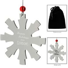 Norwood Promotional Products :: Product :: Silver Snowflake Ornament #holidaygift