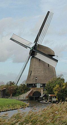 Polder mill Poldermolen K, Zuidschermer, the Netherlands.