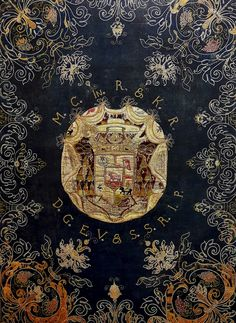 Detail of silk wall hanging with coat of arms of Michał Stefan Radziejowski by Georg Albert Lange in Gdańsk, 1683 (PD-art/old), Skarbiec katedry w Łowiczu