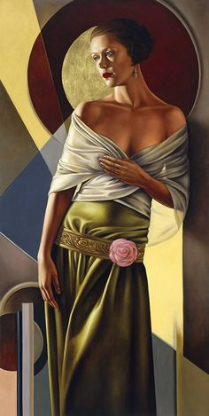"""Catherine Abel- """"Paintings combining the stylised geometry of the Art Deco & Art Nouveau period with the clarity of the Italian Renaissance Masters."""""""