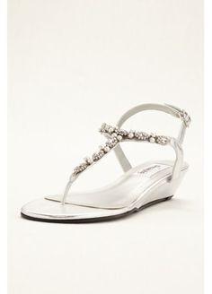 3df7c923507 Myra Low Wedge Thong Sandal Myra Silver Wedge Sandals