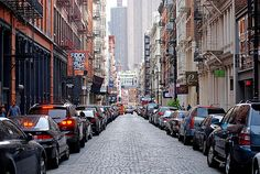 On one of my favorite streets in NYC- I adore the cool beauty and style of SoHo. Mercer Street.