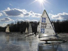 Ice Yachting - A Fresh, New Winter Actvitiy in Alberta
