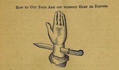 How to cut your arm off without hurt or danger. Lorento's Wizard's Guide, or, Magic Made Easy. 1878