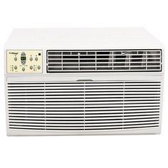 Koldfront 8,000 BTU Through the Wall Heat/Cool Air Conditioner  Koldfront 8,000 BTU Through the Wall Heat/Cool Air Conditioner The Koldfront 8,000 BTU Through the Wall Heat/Cool Air Conditioner (WTC8001W) can service a space up to 350 square feet with cool air during the warm summer months and heat during the winter. Its through the wall design is safe and secure and helps eliminate the issue of outdoor air seeping indoors as is sometimes the case with a window unit. The air conditio..