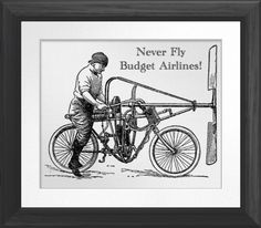 Never Fly Budget Airlines - Poster. http://www.zazzle.com/never_fly_budget_airlines_poster-228824614007861498 #travel #humor #flying