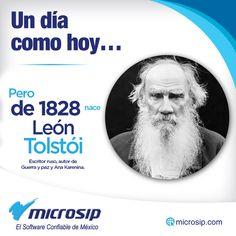Un día como hoy, pero de 1828 nace León Tolstói, escritor ruso, autor de Guerra y paz y Ana Karenina.
