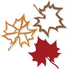 Silhouette Design Store - View Design #22353: maple leaves