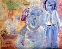 "Saatchi Art Artist Beverly Peters; Painting, ""senior couple"" #art"