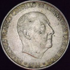 100 spanish pesetas large silver coin with XF by DrewsCollectibles, $21.00