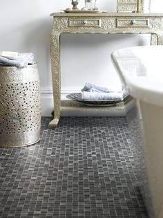 Stunning Use Of Metal Effects In The Bathroom Great Idea
