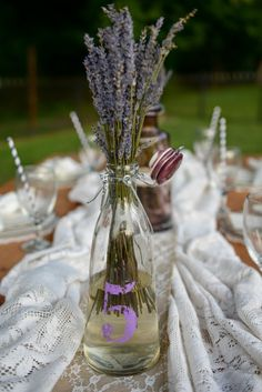Dried lavender table decor www.MadamPaloozaEmporium.com www.facebook.com/MadamPalooza