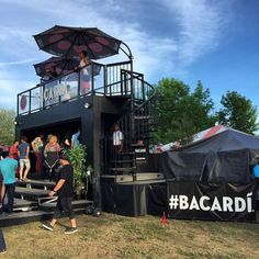 Bacardi container bar at Bestival Toronto