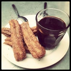 Churros and chocolate. Mmm... Take me to Spain now!