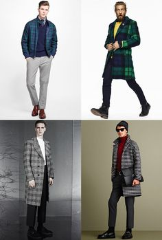 909f26b7808ad Men s Checked Coats and Jackets outfit inspiration lookbook - autumn winter  2016 fashion trend Winter