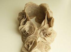 Como fazer cachecol com flores de feltro | Como fazer em casa Artesanato