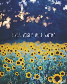 I will worship while waiting #Christian #Grace