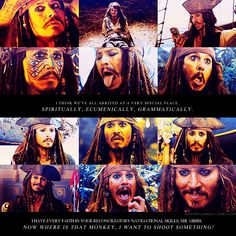 I think there's a tiny piece in every person that wants to marry Jack Sparrow. Even in men. Just a tiny bit.. A little bro crush.  Then there are some of us that just.. Want to marry him a ton ;)