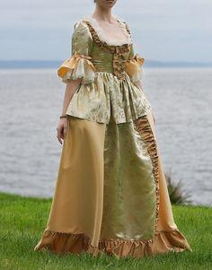 Brocade Victorian Dress hhfashions at Etsy. Beautiful.