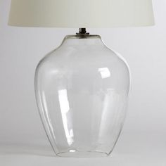 One of my favorite discoveries at WorldMarket.com: Clear Glass Table Lamp Base