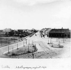 A rekonstrukció ideje, épül a Boldogasszony sugárút az árvíz után 1883.